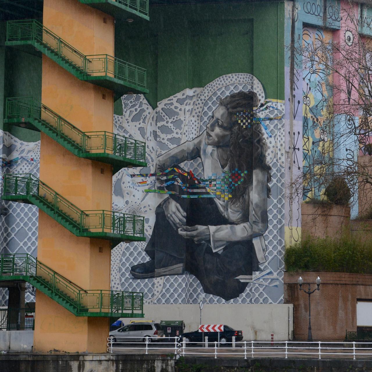 street art under the bridge bilbao