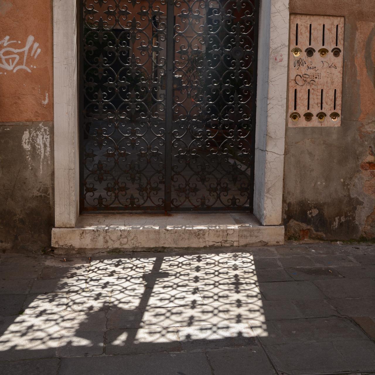 venice sun iron ornamental door