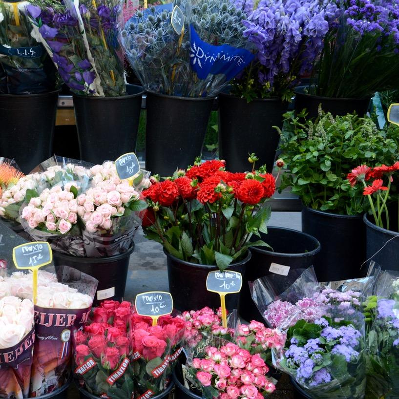 Paris France montmatre flower shop
