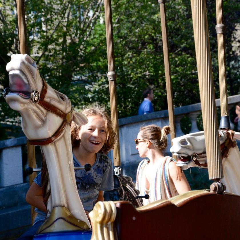 Paris France sacre coeur carousell ride