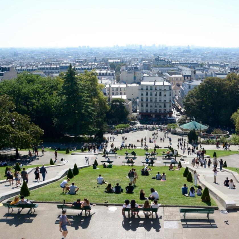 Paris France sacre coeur view montmatre