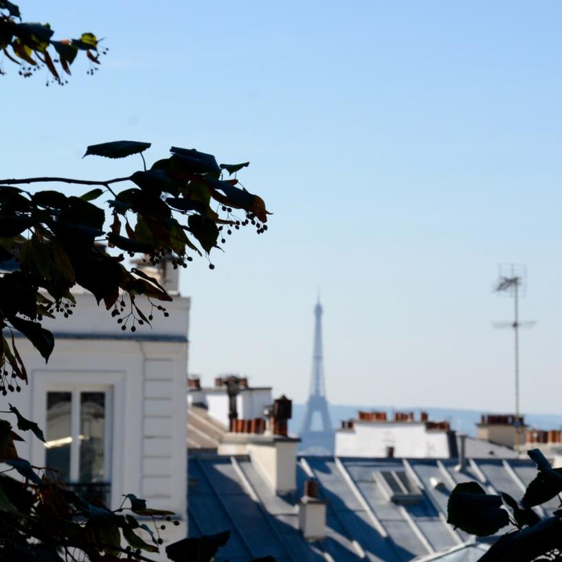 Paris France montmatre eiffel tower