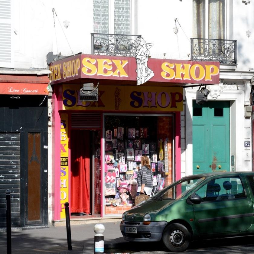 Paris France montmatre shop adults only