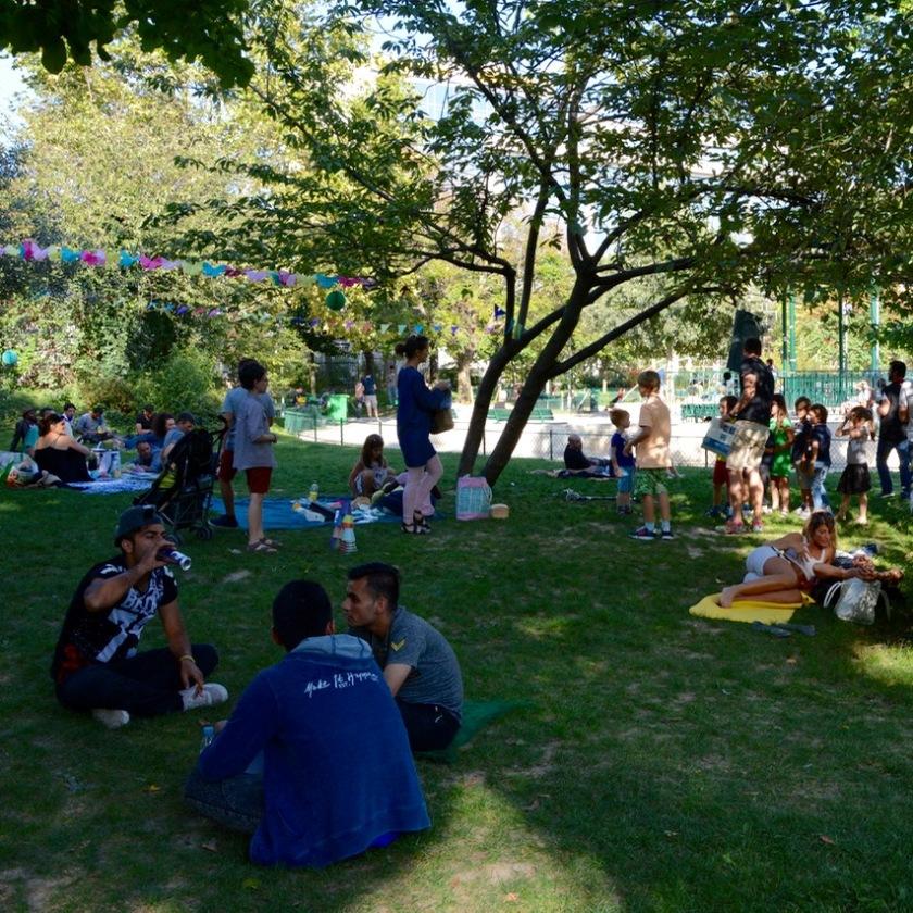 Paris France park birthday party
