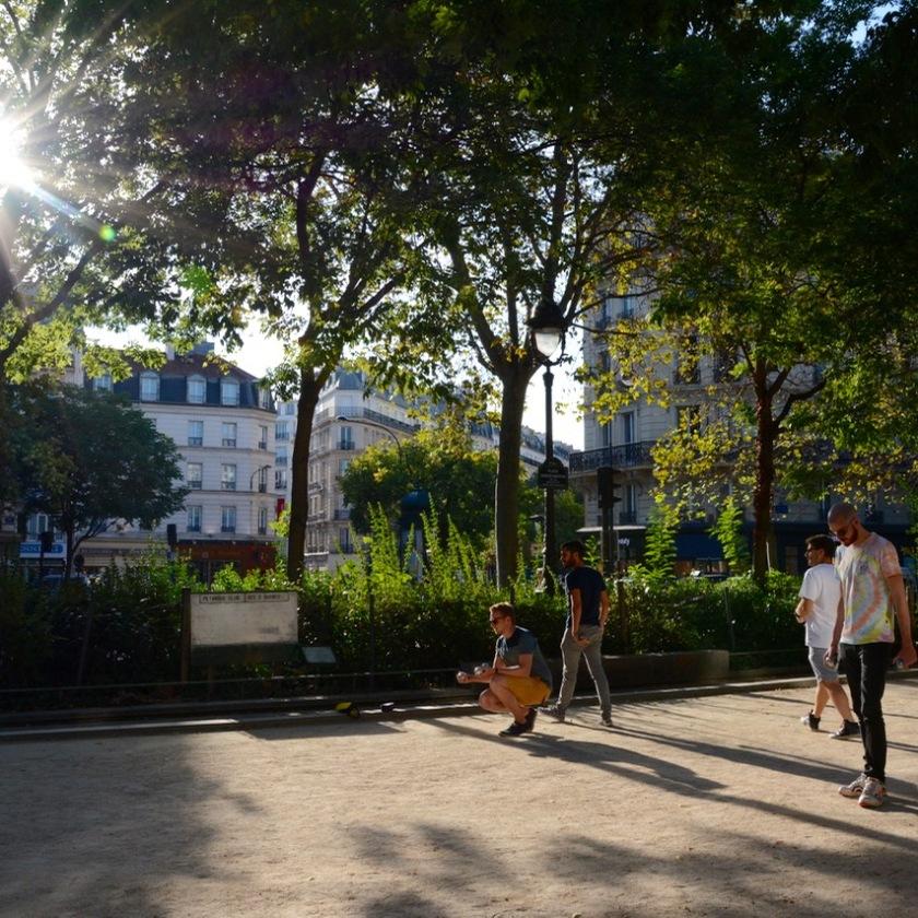 Paris France petanque boules