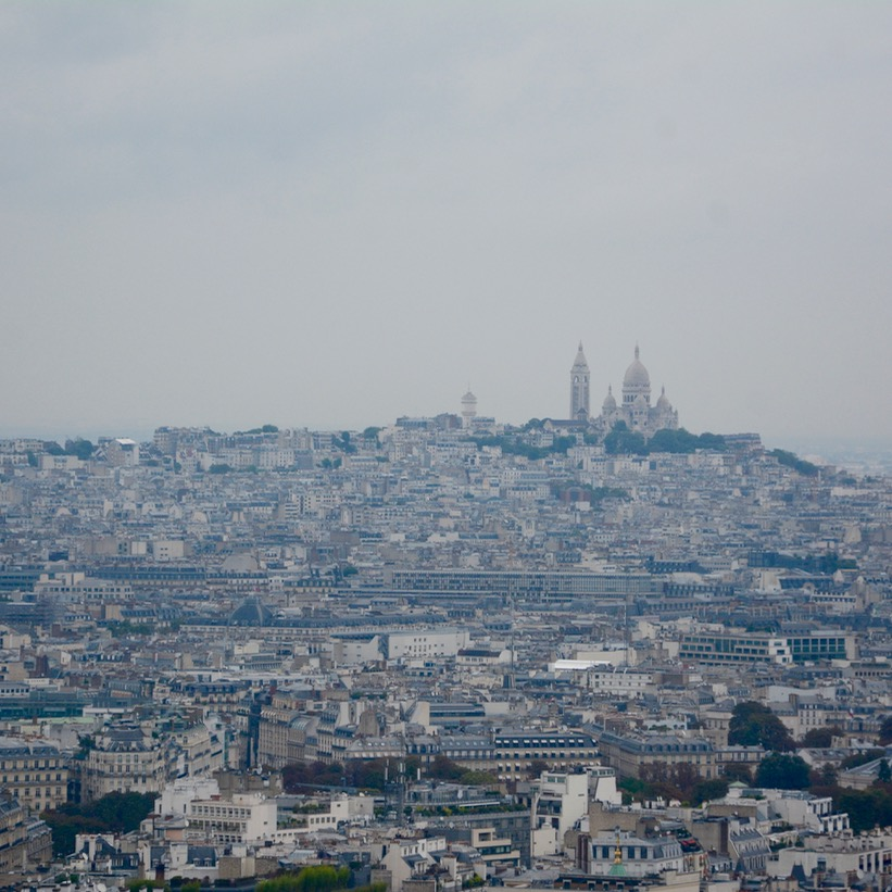 paris france eiffel tower view sacre coeur