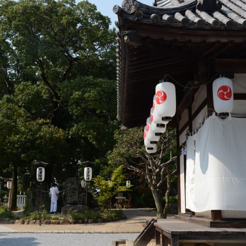 Kurashiki achi shrine monk