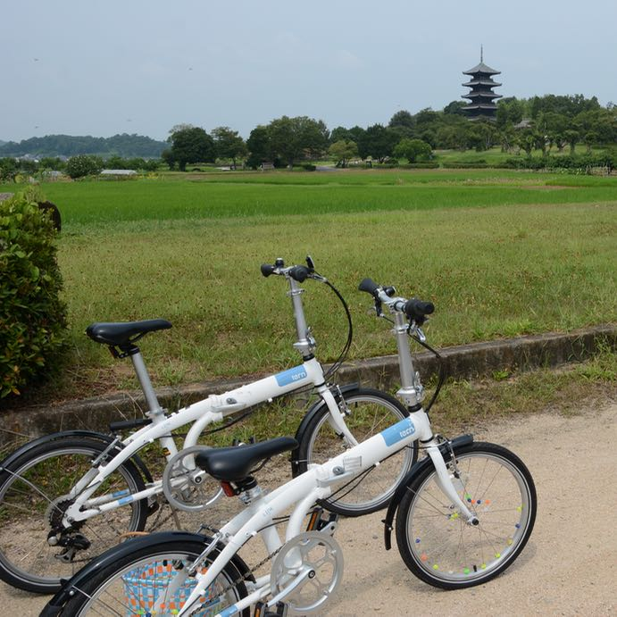 Kibi plain cycle ride Bitchu Kokubun-ji temple