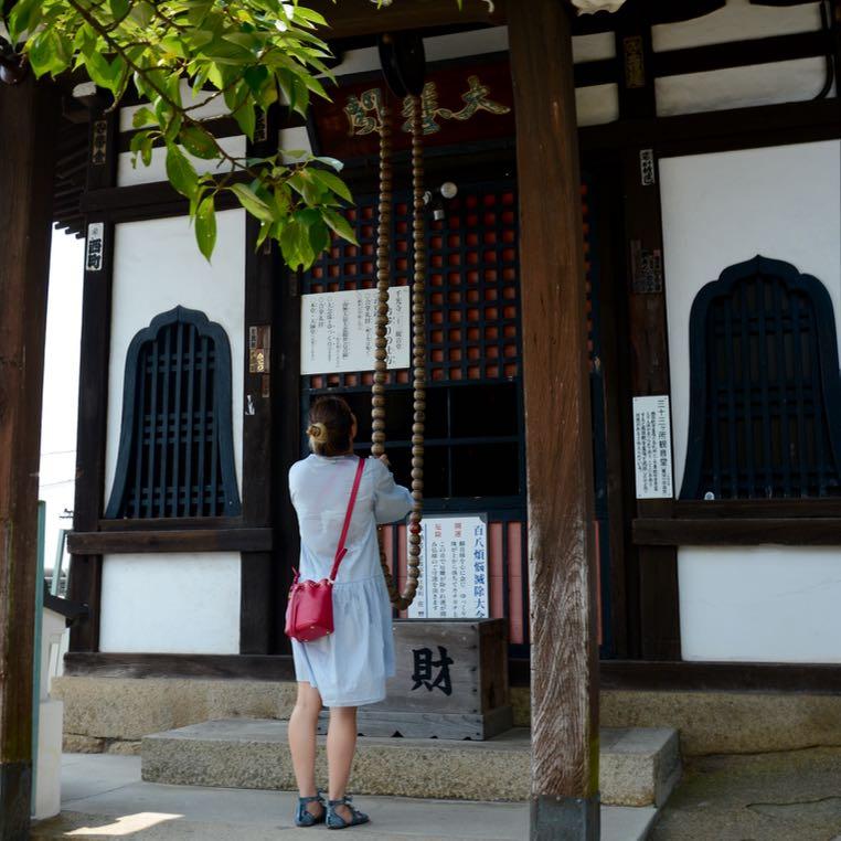 onomichi temple walk shrine bell