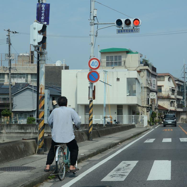 innoshima shimanami kaido cycle path cyclist