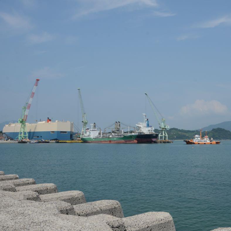 innoshima shimanami kaido cycle path ship building dock