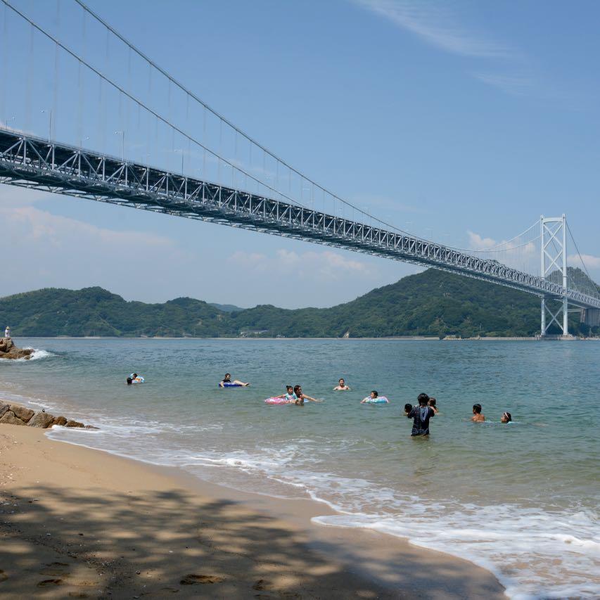 innoshima shimanami kaido cycle path fun beach