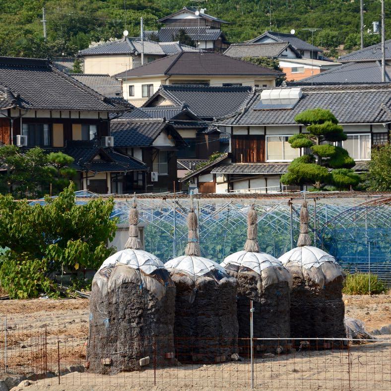 Innoshima shimanami Kaido hay ball garden fields