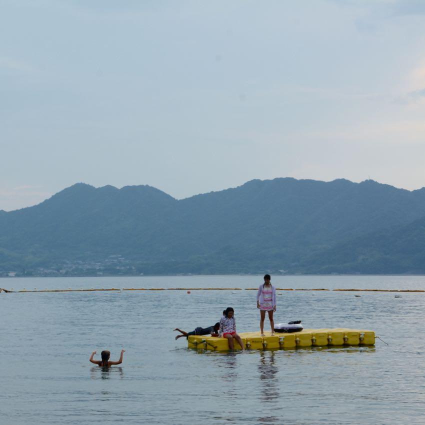 Ikuchijima setoda sunset beach pontoons children