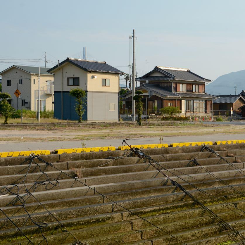 Ikuchijima setoda sunset beach architecture residential houses