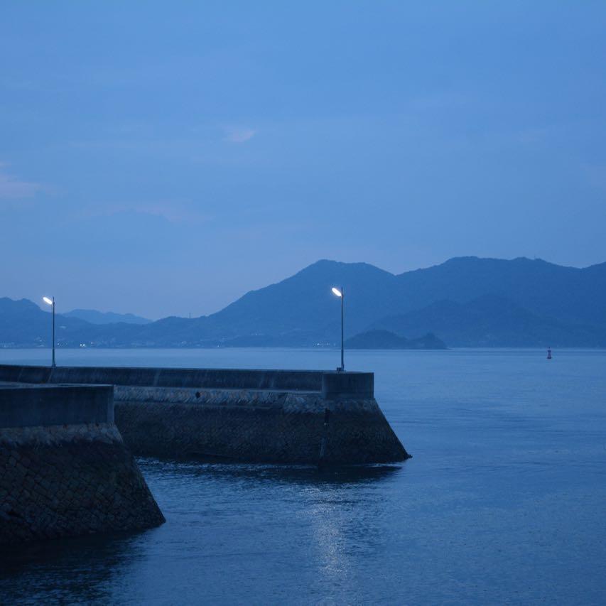 Ikuchijima setoda sunset beach after dark