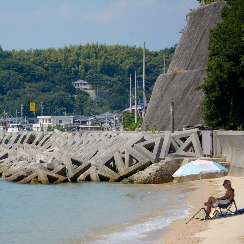 shimanami kaido cycling seto inland sea beach
