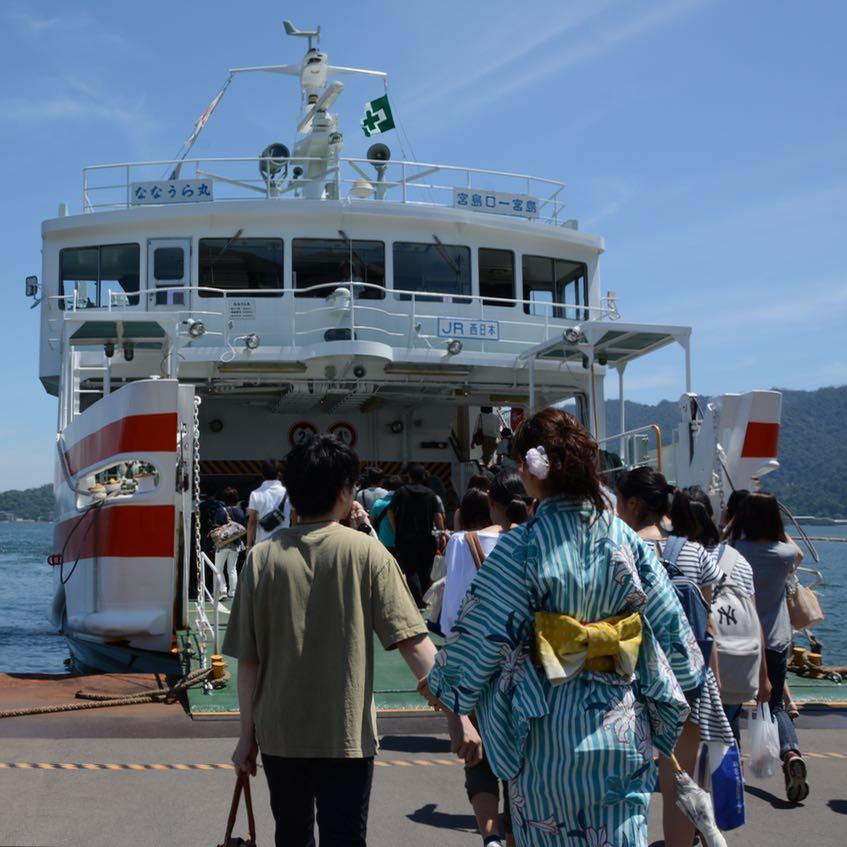 Hiroshima Miyajima firework hanabi jr ferry