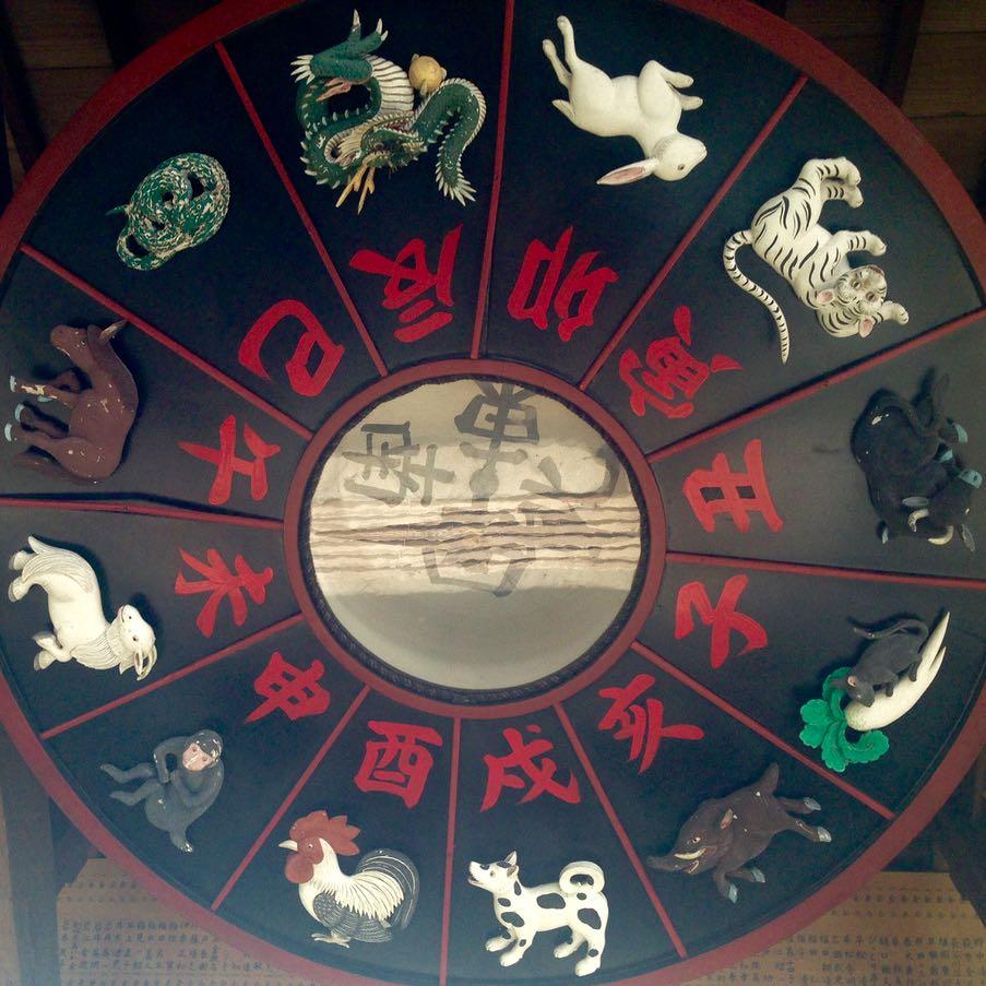 Kurashiki Achi shrine chinese zodiac clock