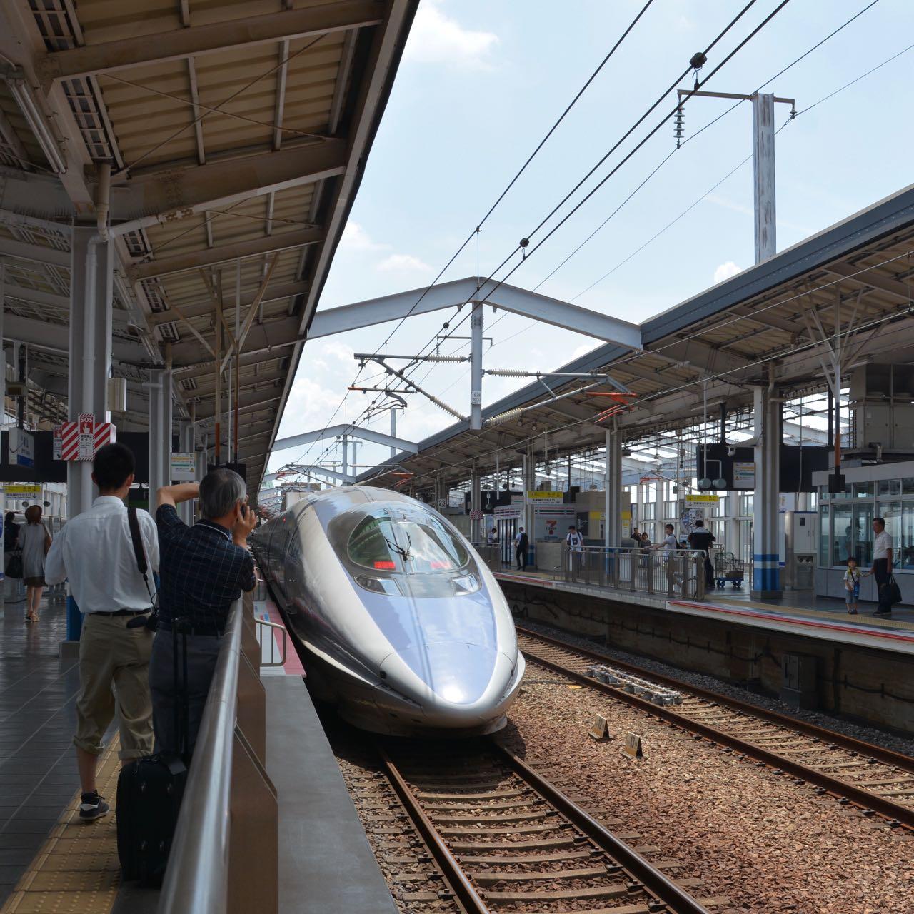okayama station shinkansen train