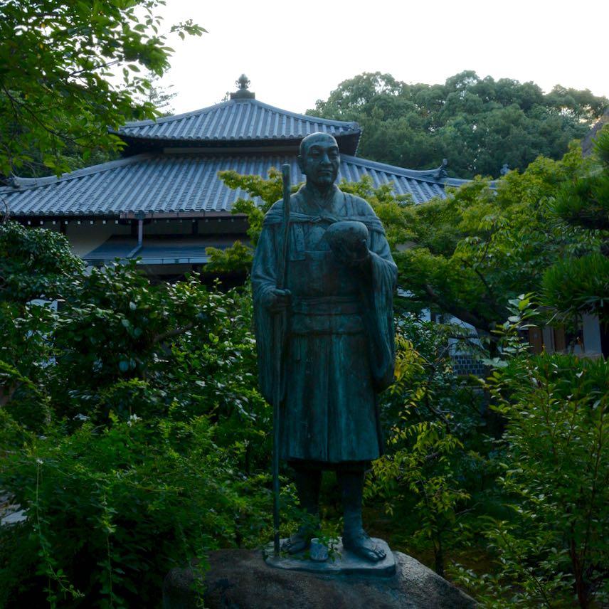 Statue at temple Kurashiki