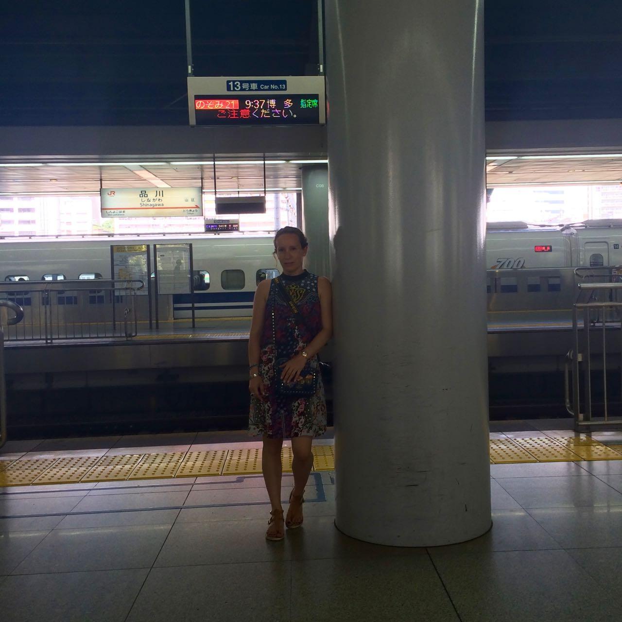 Shinkansen at Shinagawa station