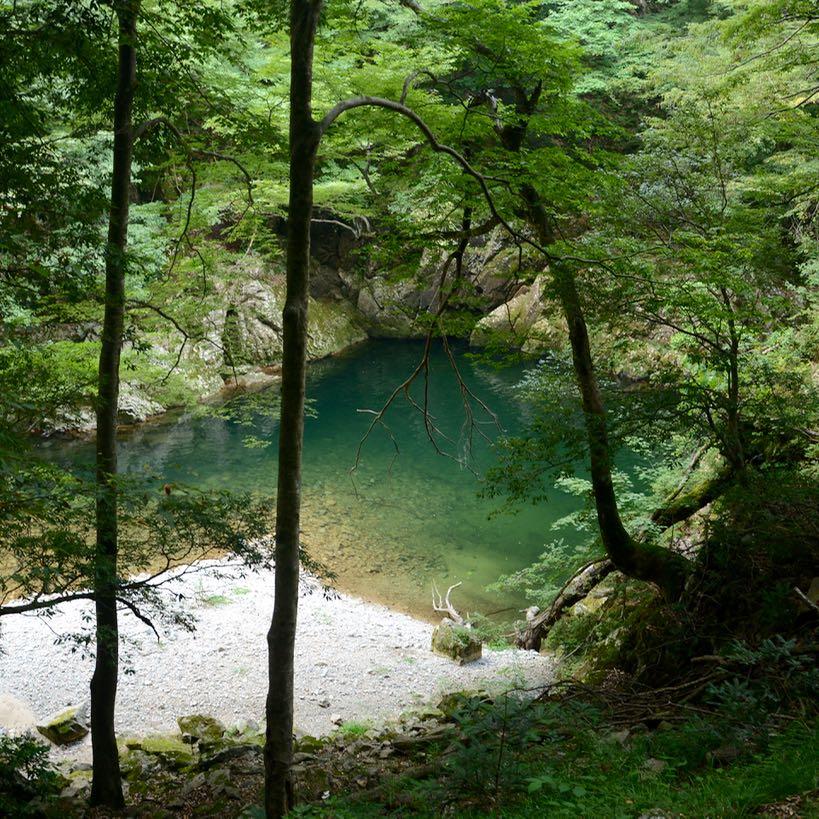 Sandankyo gorge Hiroshima Japan natural swimming pool