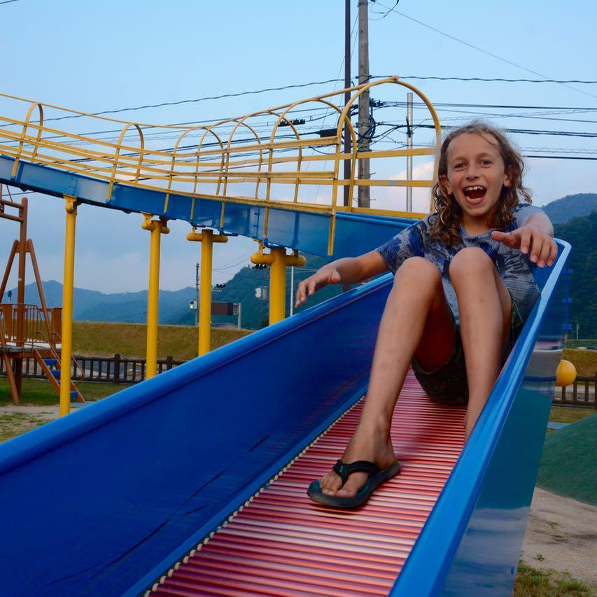 Sandankyo gorge hiroshima japan roller slide fun