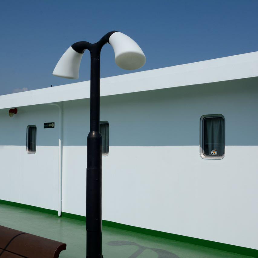 naoshima japan ferry lamps design
