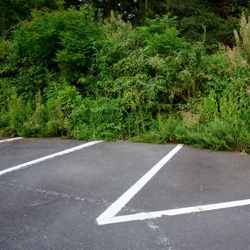 naoshima japan parking lot
