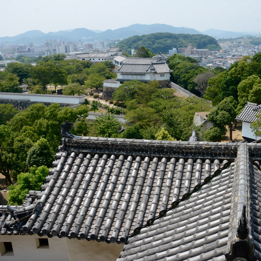 himeji castle architecture main keep view