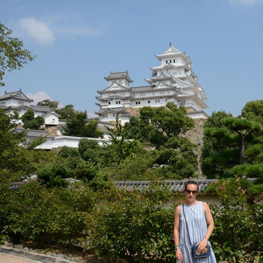 himeji castle architecture main keep garden