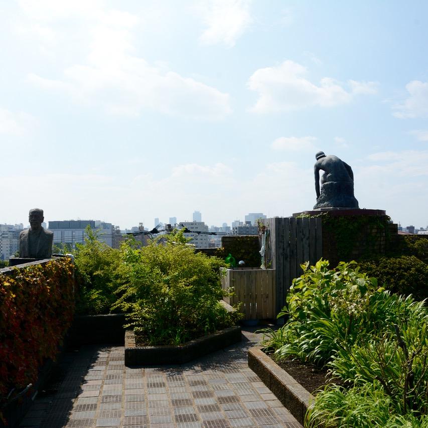 yanaka tokyo asakura fumio museum roof top