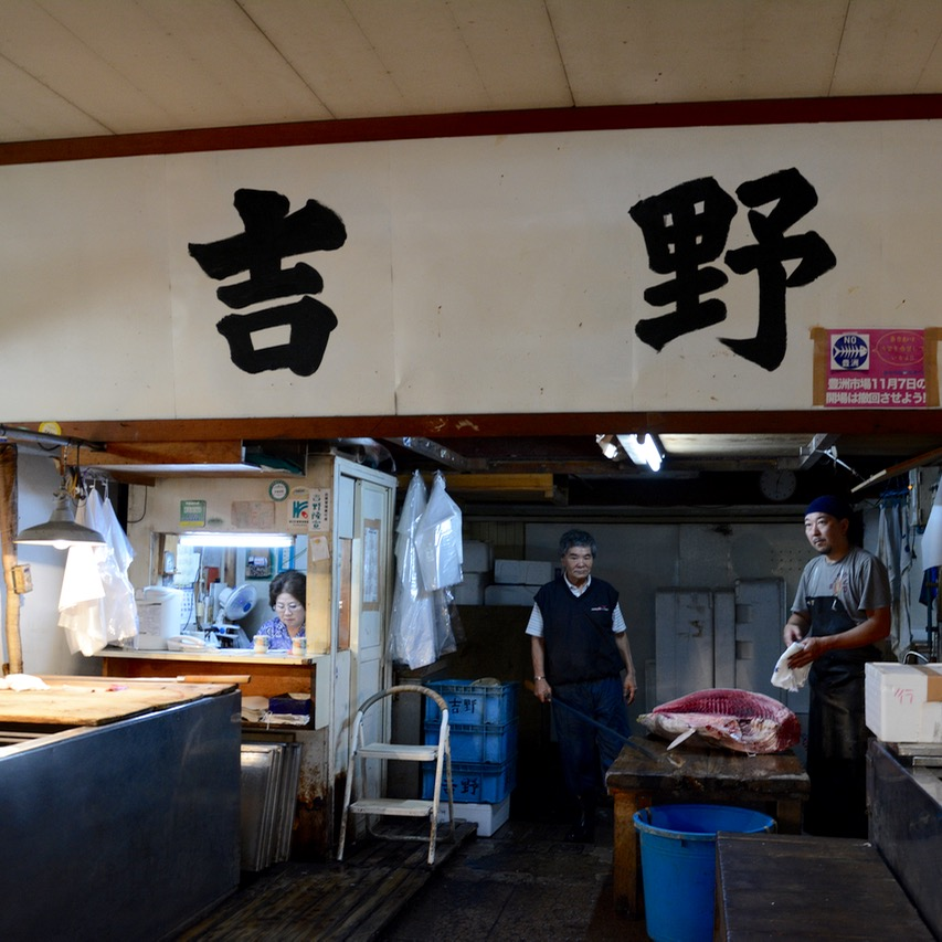 Tsukiji tokyo fish market tuna
