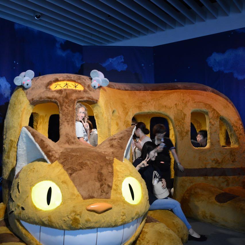 roppongi tokyo mori art museum ghibli exhibition neko bus