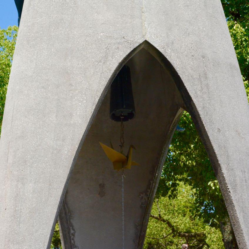 Hiroshima childrens peace monument crane