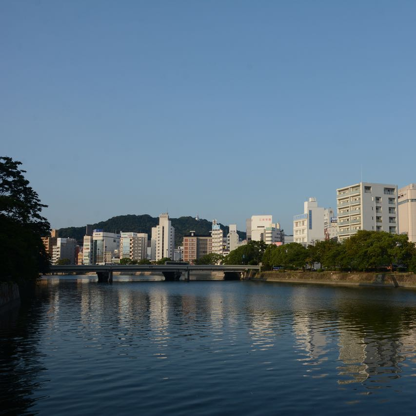 Hiroshima river walk bridge