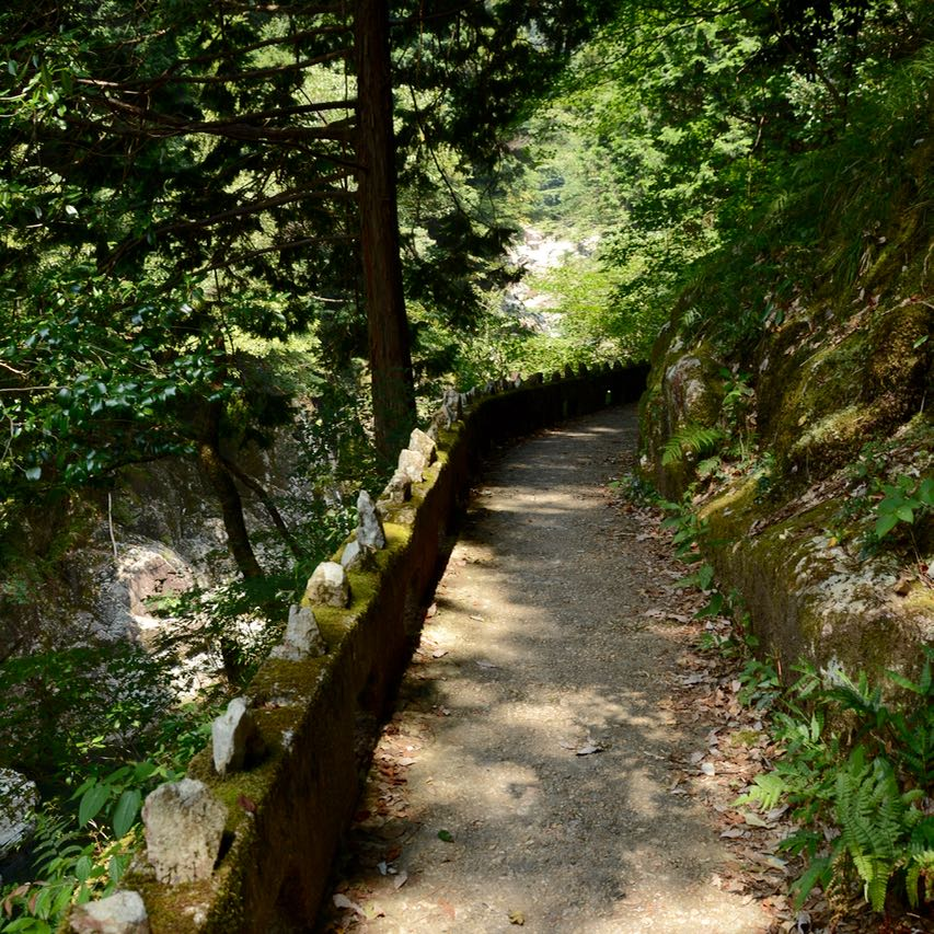 Sandankyo gorge hiroshima japan river path