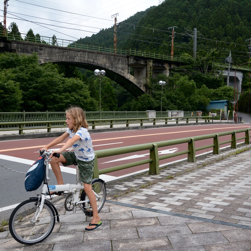 Kawai train bridge cycling