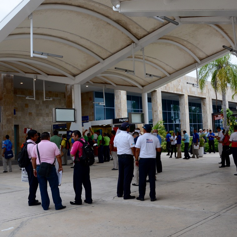 Cancun Mexico airport arrivals area