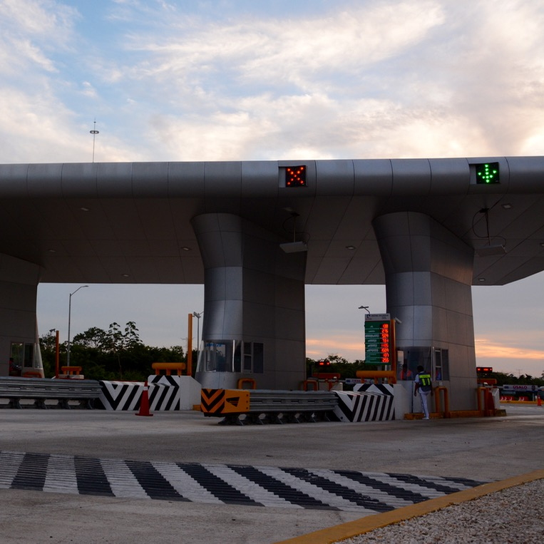Cancun Mexico highway toll station
