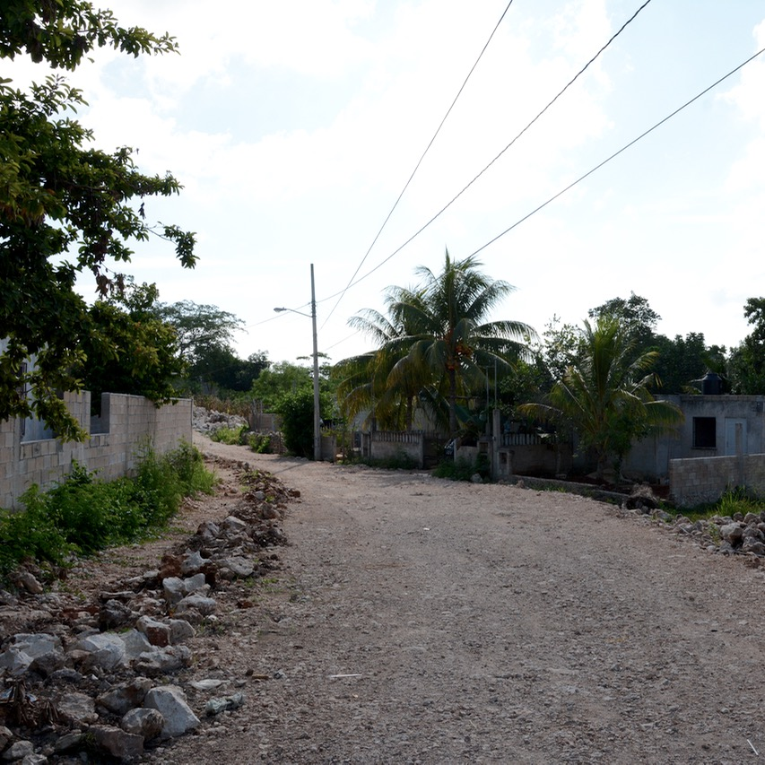 Cancun Mexico valladolid yucatan side street