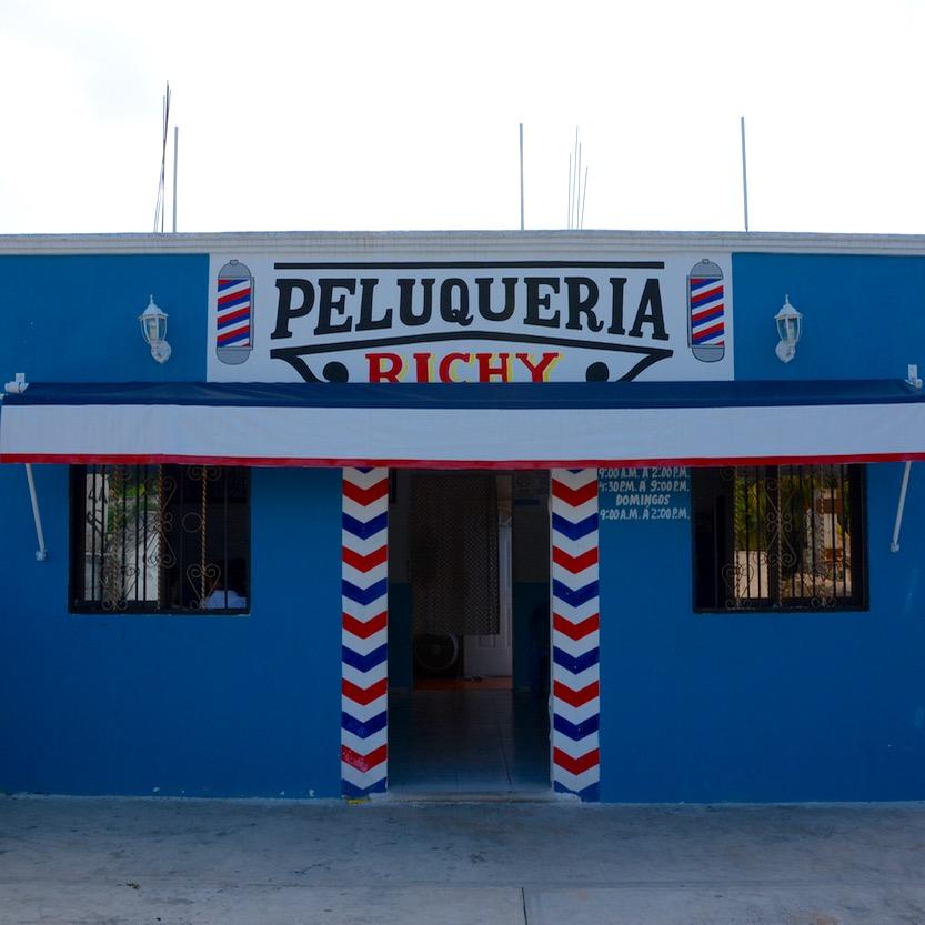 Cancun Mexico valladolid yucatan barber shop