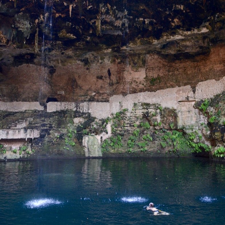 Valladolid mexico with children kids cenote zaki swim