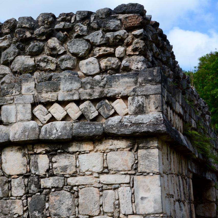 Valladolid with kids children ek balam pyramid frieze
