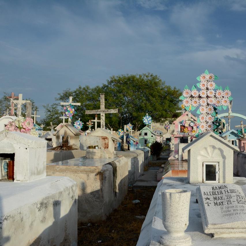 Travel with children kids mexico rio lagartos  flower crosses