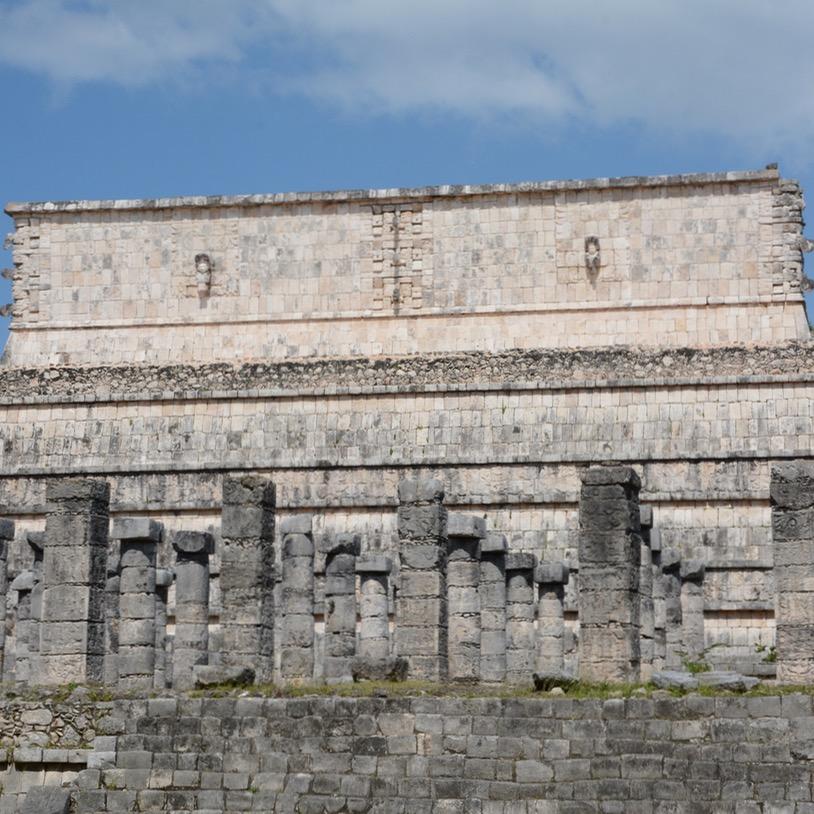 travel with children kids mexico chichen itza temple of warriors