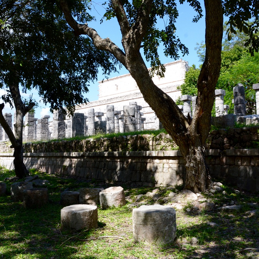 travel with children kids mexico chichen itza thousand columns