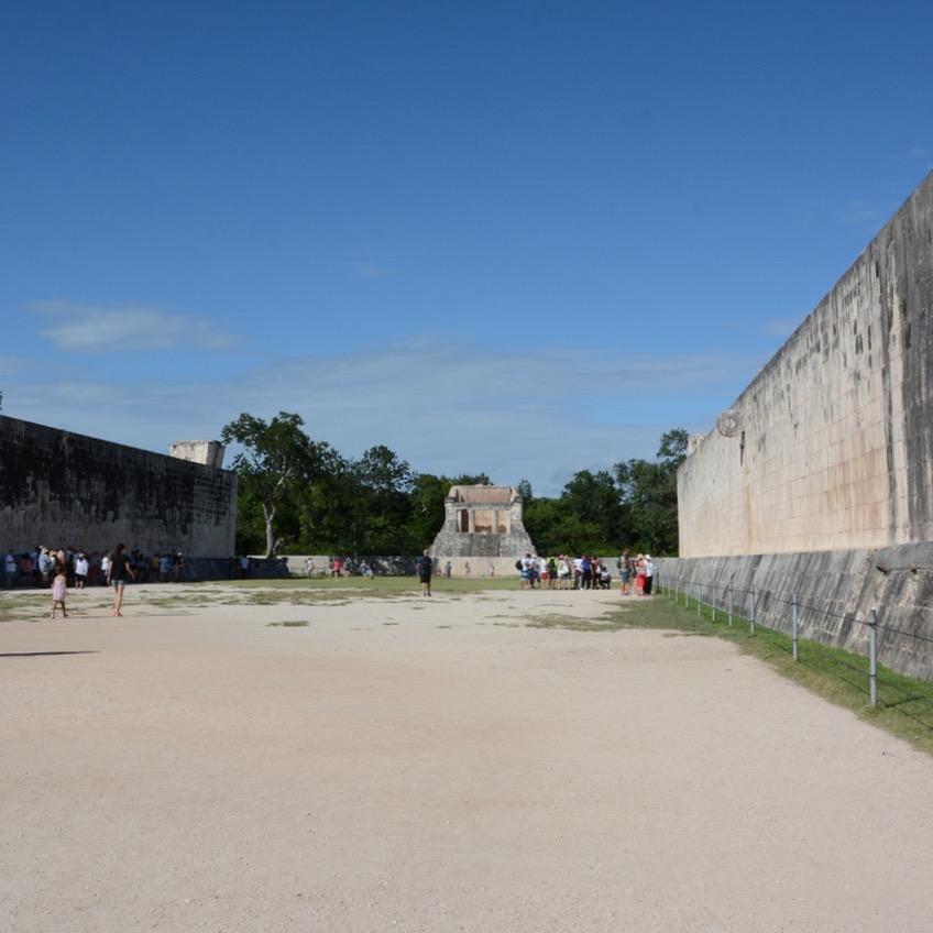 travel with children kids mexico chichen itza great ball court