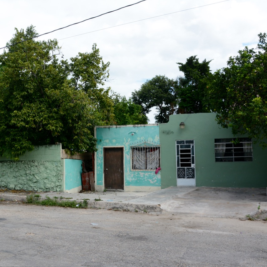 Merida mexico travel with children kids side street